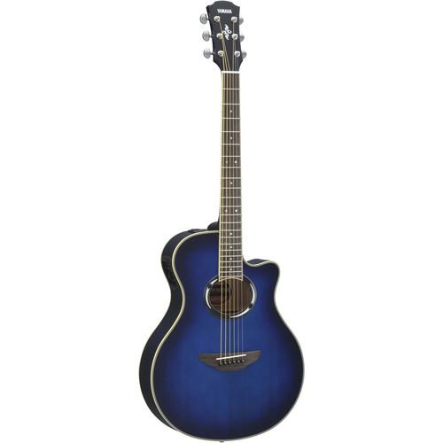 Yamaha APX500III Thinline Acoustic/Electric Cutaway Guitar (Oriental Blue Burst)