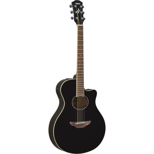 Yamaha APX600 Thin-Line Acoustic/Electric Cutaway Guitar (Gloss Black)
