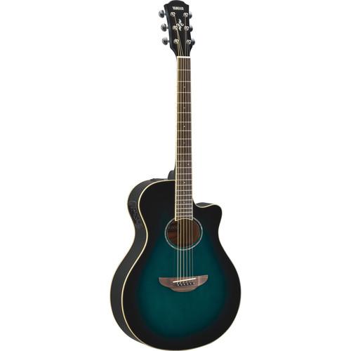 Yamaha APX600 Thin-Line Acoustic/Electric Cutaway Guitar (Oriental Blue Burst)