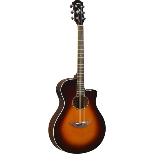 Yamaha APX600 Thin-Line Acoustic/Electric Cutaway Guitar (Old Violin Sunburst)