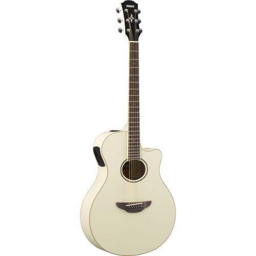 Yamaha APX600 Thin-Line Acoustic/Electric Cutaway Guitar (Vintage White)
