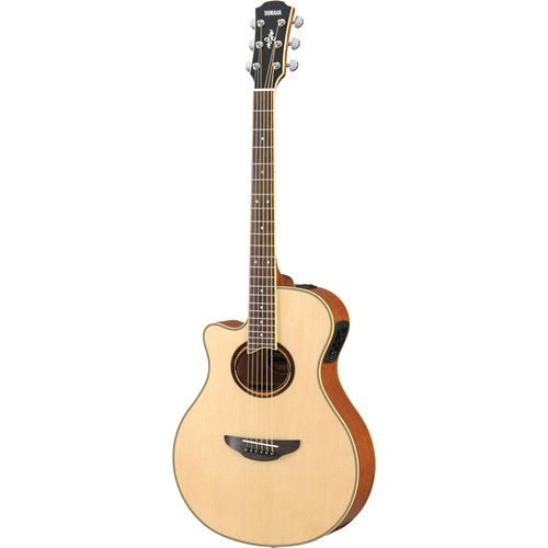 Yamaha APX700IIL Left-Handed Thinline Acoustic/Electric Cutaway Guitar (Natural)