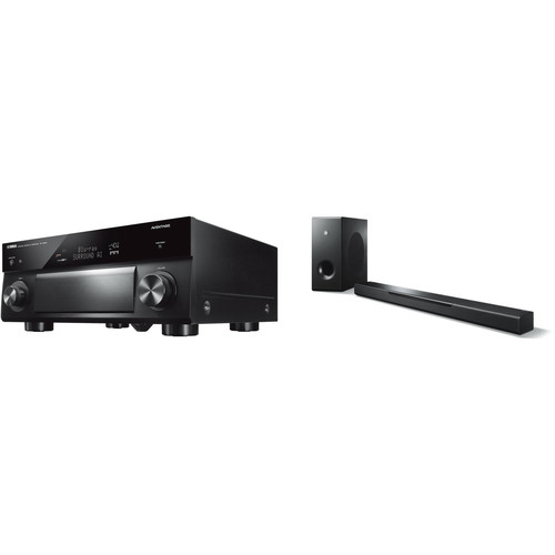 Yamaha AVENTAGE RX-A1080 7.2-Channel Network A/V Receiver and MusicCast Bar 400 Kit