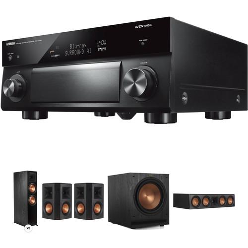 Klipsch AVENTAGE RX-A1080 7.2-Channel Network A/V Receiver & 5.1.2-Channel Speaker System Kit