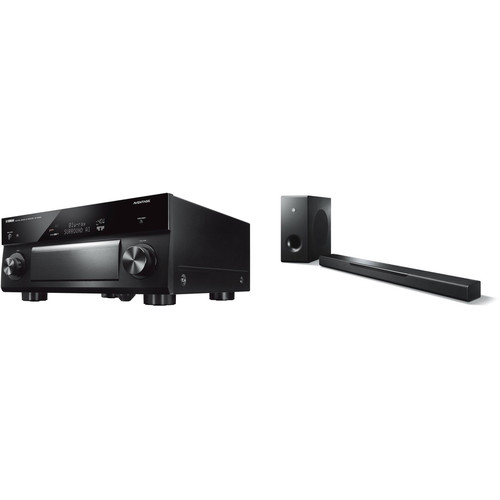 Yamaha AVENTAGE RX-A2080 9.2-Channel Network A/V Receiver and MusicCast Bar 400 Kit