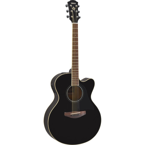 Yamaha CPX600 Medium-Jumbo Body Acoustic Electric Guitar (Black)