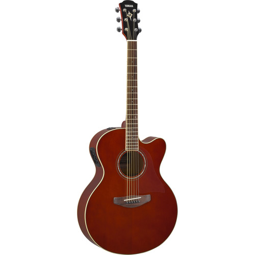 Yamaha CPX600 Medium-Jumbo Body Acoustic Electric Guitar (Root Beer)