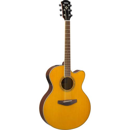 Yamaha CPX600 Medium-Jumbo Body Acoustic Electric Guitar (Vintage Tint)