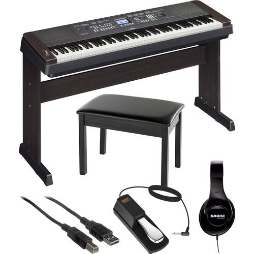 yamaha dgx 650 portable grand digital piano essentials bundle. Black Bedroom Furniture Sets. Home Design Ideas