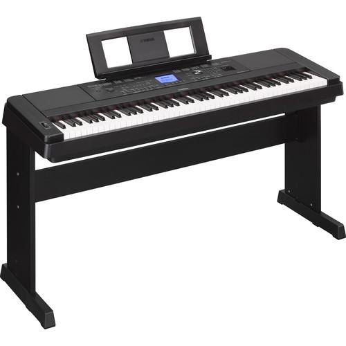 Yamaha DGX-660 Home/Studio Kit with Pedals, Bench, and Studio Headphones (Black)