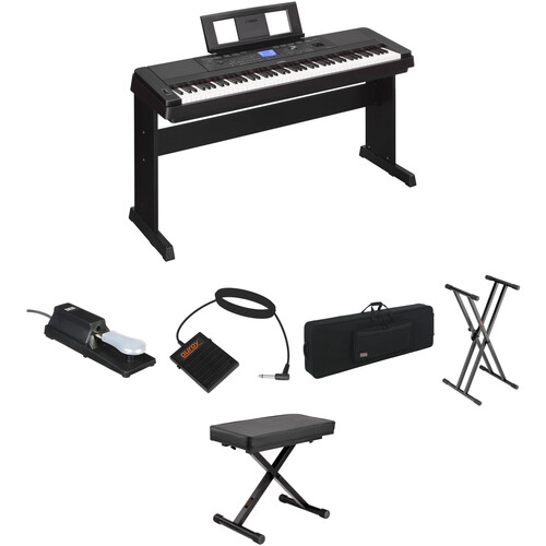 Yamaha DGX-660 Stage Bundle Kit with Pedals, Bench, Case, and Stand