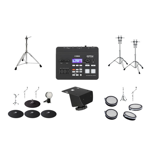 Yamaha DTX760HWK, DTX700 Drum Module with Drum Pads and Hardware Kit