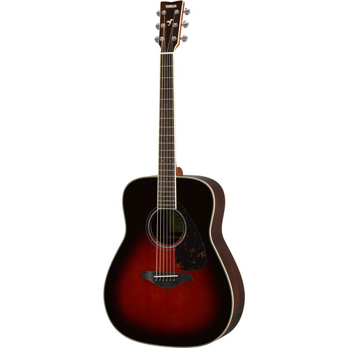 Yamaha FG830 FG Series Dreadnought-Style Acoustic Guitar (Tobacco Brown Sunburst)