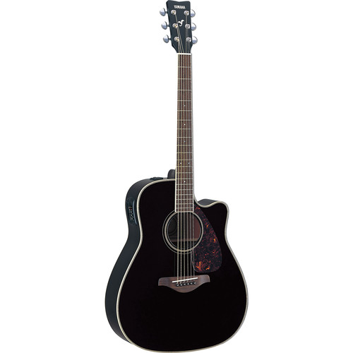 Yamaha FGX720SCA Acoustic/Electric Guitar (Black)