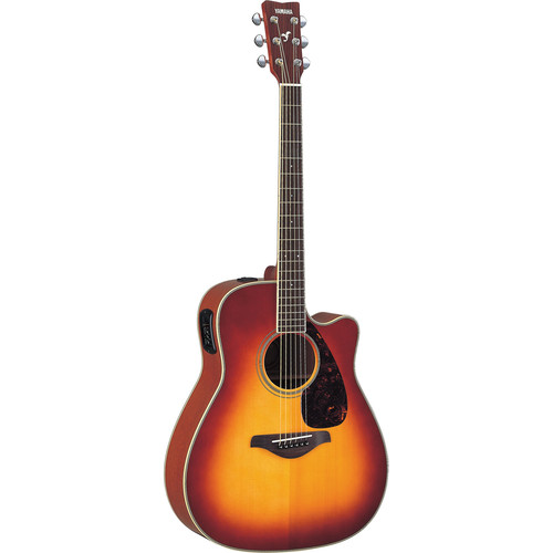 Yamaha FGX720SCA Acoustic/Electric Guitar (Brown Sunburst)