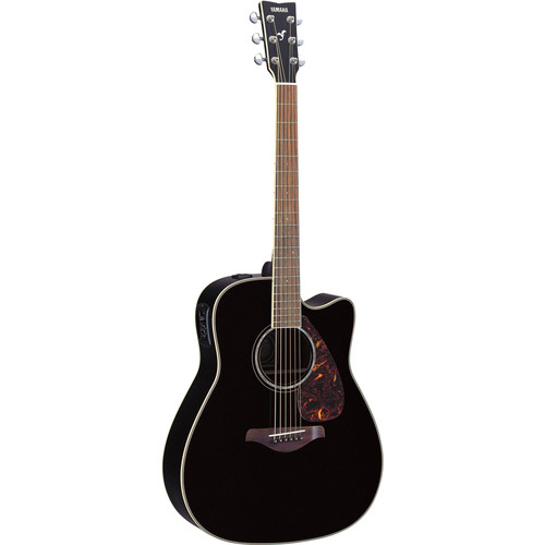 Yamaha FGX730SC Acoustic/Electric Guitar (Black)