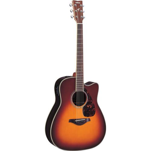Yamaha FGX730SC Acoustic/Electric Guitar (Brown Sunburst)