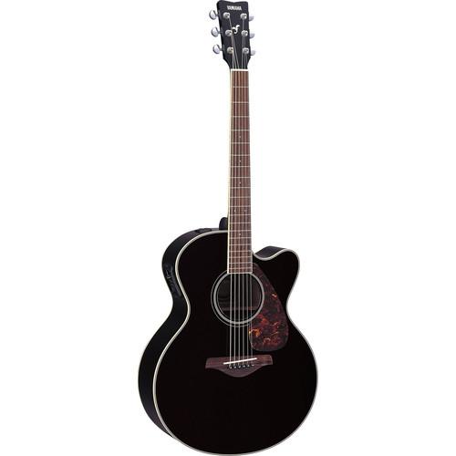 Yamaha FJX720SC Medium-Jumbo Acoustic/Electric Guitar (Black)
