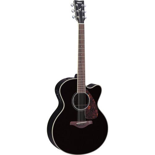 Yamaha FJX730SC Medium-Jumbo Acoustic/Electric Guitar (Black)