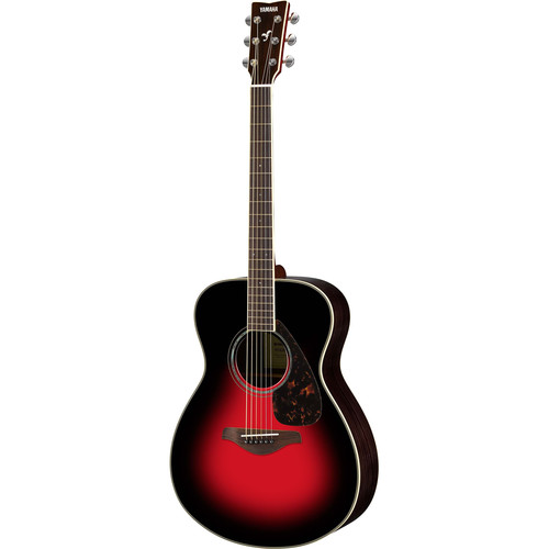Yamaha FS830 FS Series Concert-Style Acoustic Guitar (Dusk Sun Red)