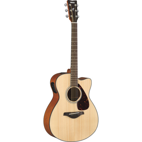 Yamaha FSX700SC Acoustic/Electric Solid-Top Cutaway Guitar (Natural)