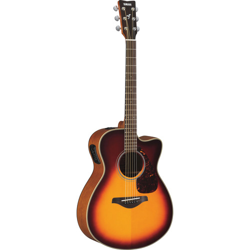 Yamaha FSX700SC Acoustic/Electric Solid-Top Cutaway Guitar (Brown Sunburst)