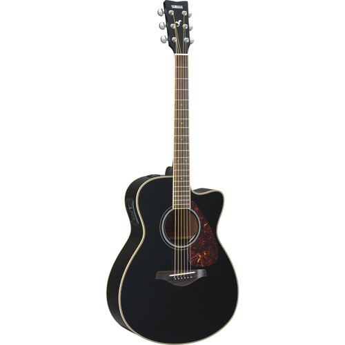 Yamaha FSX720SC Small-Body Acoustic/Electric Guitar (Black)
