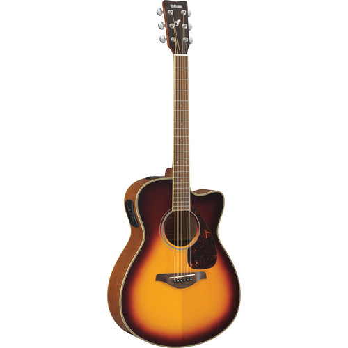 Yamaha FSX720SC Small-Body Acoustic/Electric Guitar (Brown Sunburst)