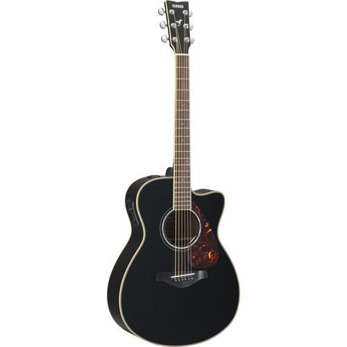 Yamaha FSX730SC Small-Body Acoustic/Electric Guitar (Black)