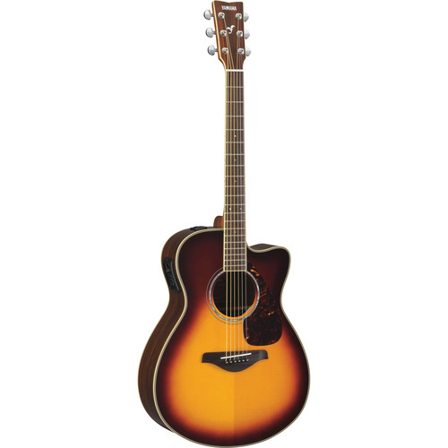 Yamaha FSX730SC Small-Body Acoustic/Electric Guitar (Brown Sunburst)