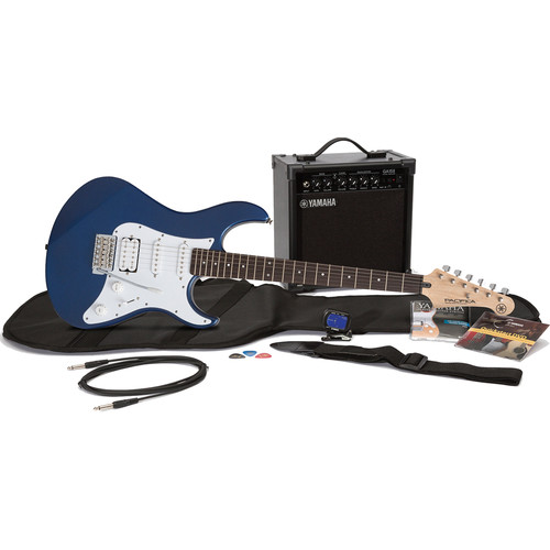 Yamaha Gigmaker Electric Bundle - Pacifica PAC012 Electric Guitar & 15-Watt Amplifier with Accessories (Metallic Blue)