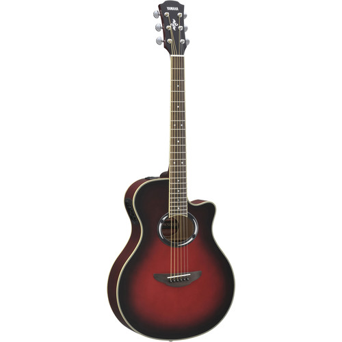 Yamaha APX500III Thinline Acoustic/Electric Cutaway Guitar (Dusk Sun Red)
