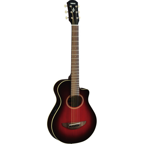 Yamaha APXT2 3/4-Size Thinline Acoustic/Electric Cutaway Guitar (Dark Red Burst)