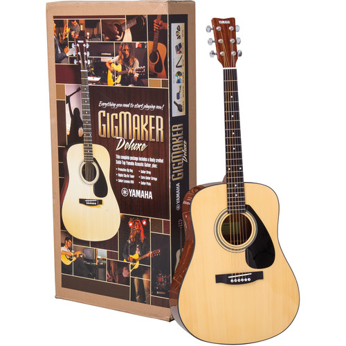 Yamaha Gigmaker Deluxe Acoustic Bundle - FD01S Solid-Top Acoustic Guitar & Accessories (Natural)