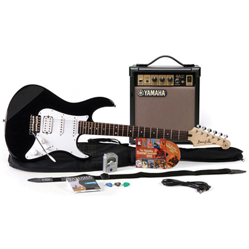 Yamaha Gigmaker Electric Bundle - Pacifica PAC012 Electric Guitar & 15-Watt Amplifier with Accessories (Black)
