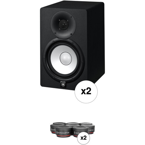 Yamaha HS7 Powered Studio Monitors with Monitor Controller and Isolation Pads Kit