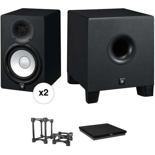 Yamaha HS7 Powered Studio Monitors and HS8S Subwoofer with Monitor Controller Kit