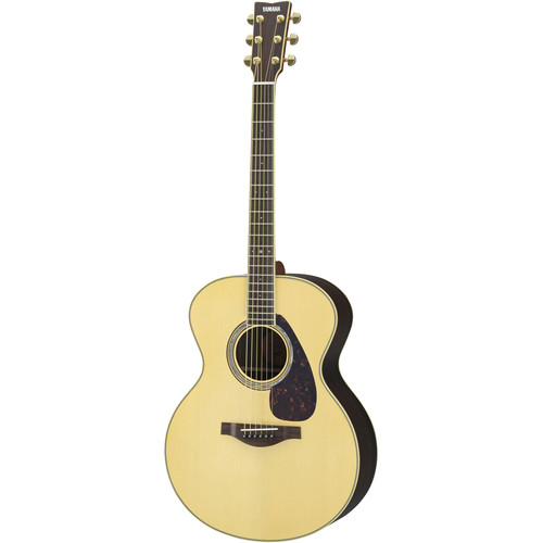 Yamaha Jumbo Body Acoustic Solid Spruce Top with Rosewood Back & Sides,Piezo Pickup,with Hard Bag(Natural)