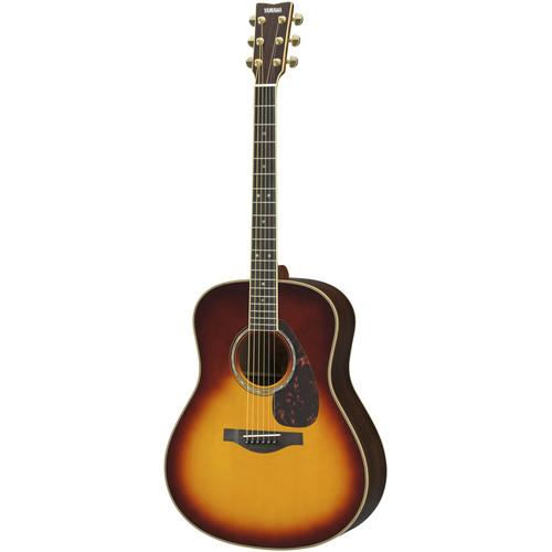 Yamaha Dreadnought Acoustic Solid Engelmann Spruce Top & Rosewood Back&Sides,Piezo/Hard Bag(Brown Sunburst)