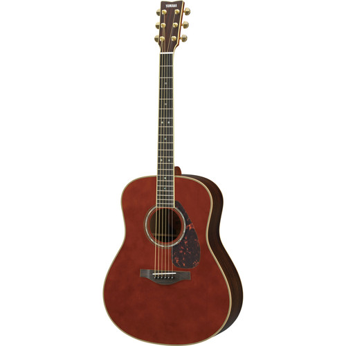 Yamaha Dreadnought Acoustic Solid Engelmann Spruce Top & Rosewood Back&Sides,Piezo/Hard Bag (Dark Tinted)