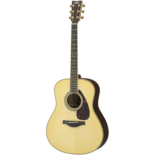 Yamaha Dreadnought Acoustic Solid Engelmann Spruce Top & Rosewood Back&Sides,Piezo/Hard Bag (Natural)