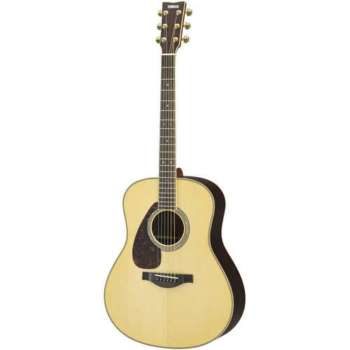 Yamaha LL16LHB Dreadnought Body Acoustic Guitar (Left-Handed, Natural)