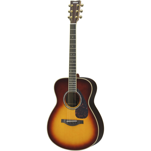 Yamaha Small Body Acoustic Solid Engelmann Spruce Top&Rosewood Back/Sides,Piezo/Hard Bag (Brown Sunburst)