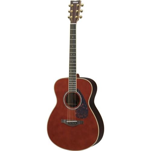 Yamaha LS16DARKTINTEDHB Small Body Acoustic Guitar (Dark Tinted)