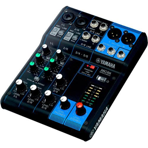 Yamaha MG06 6-Input Mixer