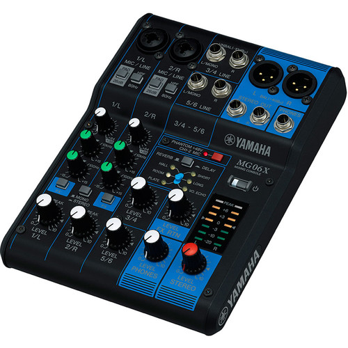 Yamaha MG06X 6-Input Mixer with Built-In Effects