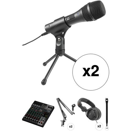 Yamaha MG10XU Podcasting Kit with 10-Input Mixer, Microphones, Crane Arm Stands & Headphones