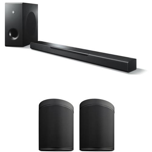 Yamaha MusicCast BAR 400 Soundbar System and MusicCast 20 Wireless Speaker Pair Kit (Black Soundbar, Black Wireless Speakers)