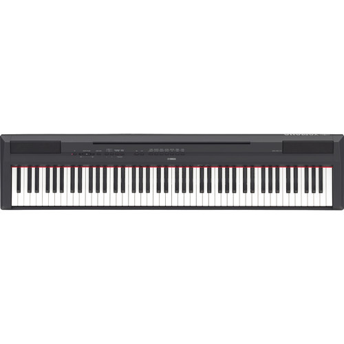 Yamaha P-115 88-Key Digital Piano Kit with Stand, Pedal, Bench, and Headphones (Black)