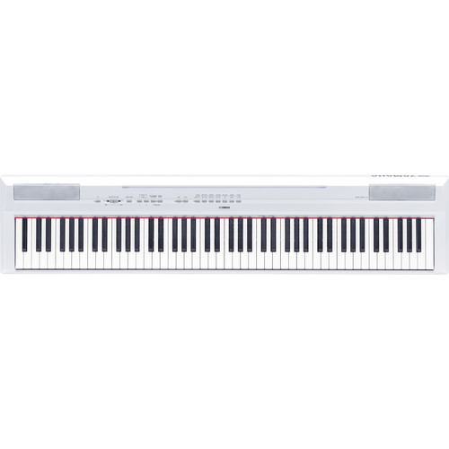 Yamaha P-115 88-Key Digital Piano Kit with Stand, Pedal, Bench, and Headphones (White)